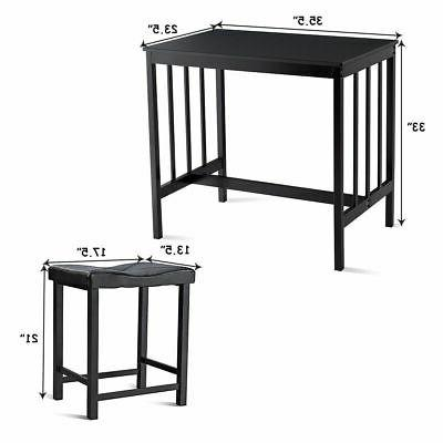 3 PCS Modern Counter Height Dining And Bar