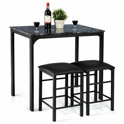 3 pieces counter height table set 2