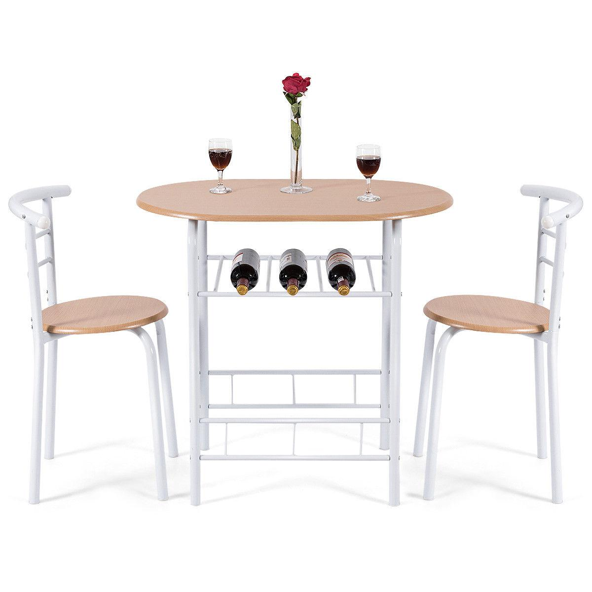 3 Dining Table Bistro Pub Home Breakfast Furniture