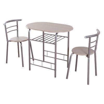 3 Table 2 Chairs Pub Home Kitchen Furniture