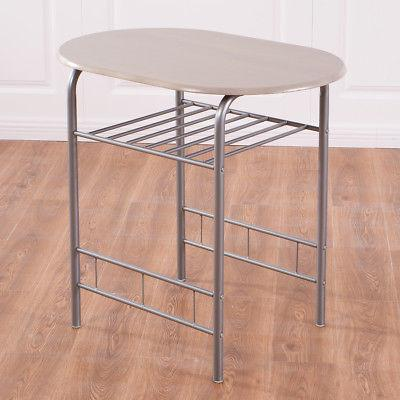 3 Piece Dining Table 2 Chairs Pub Breakfast Furniture