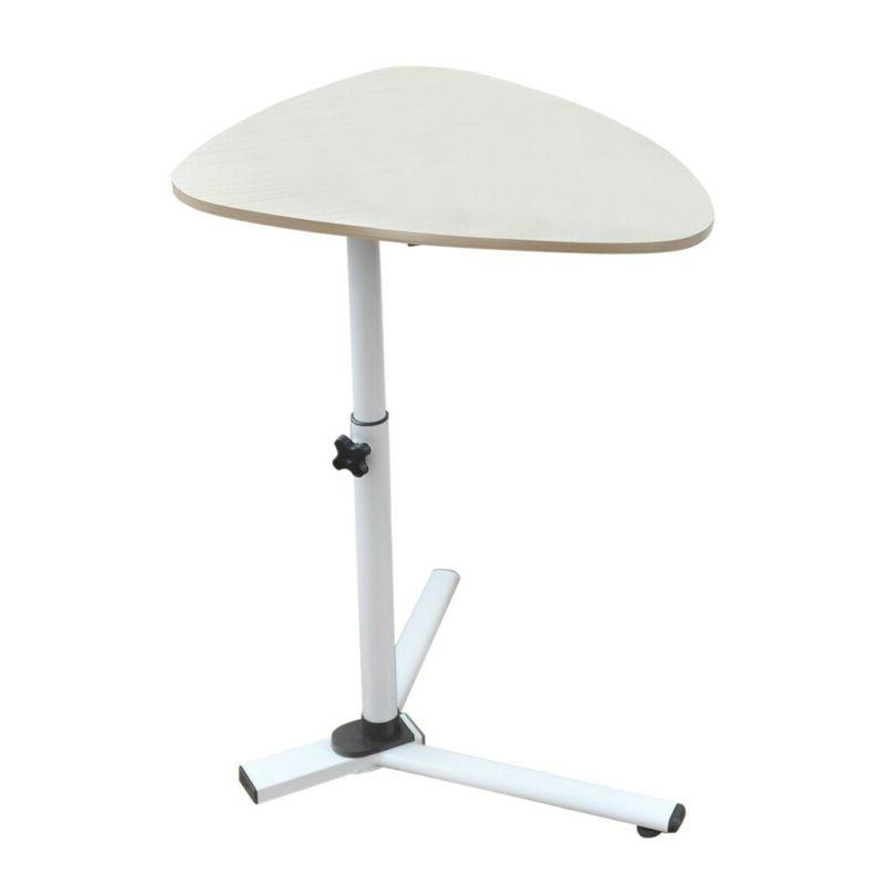 """30"""" Triangle Sofa side End Table Adjustable High Dining Tray"""