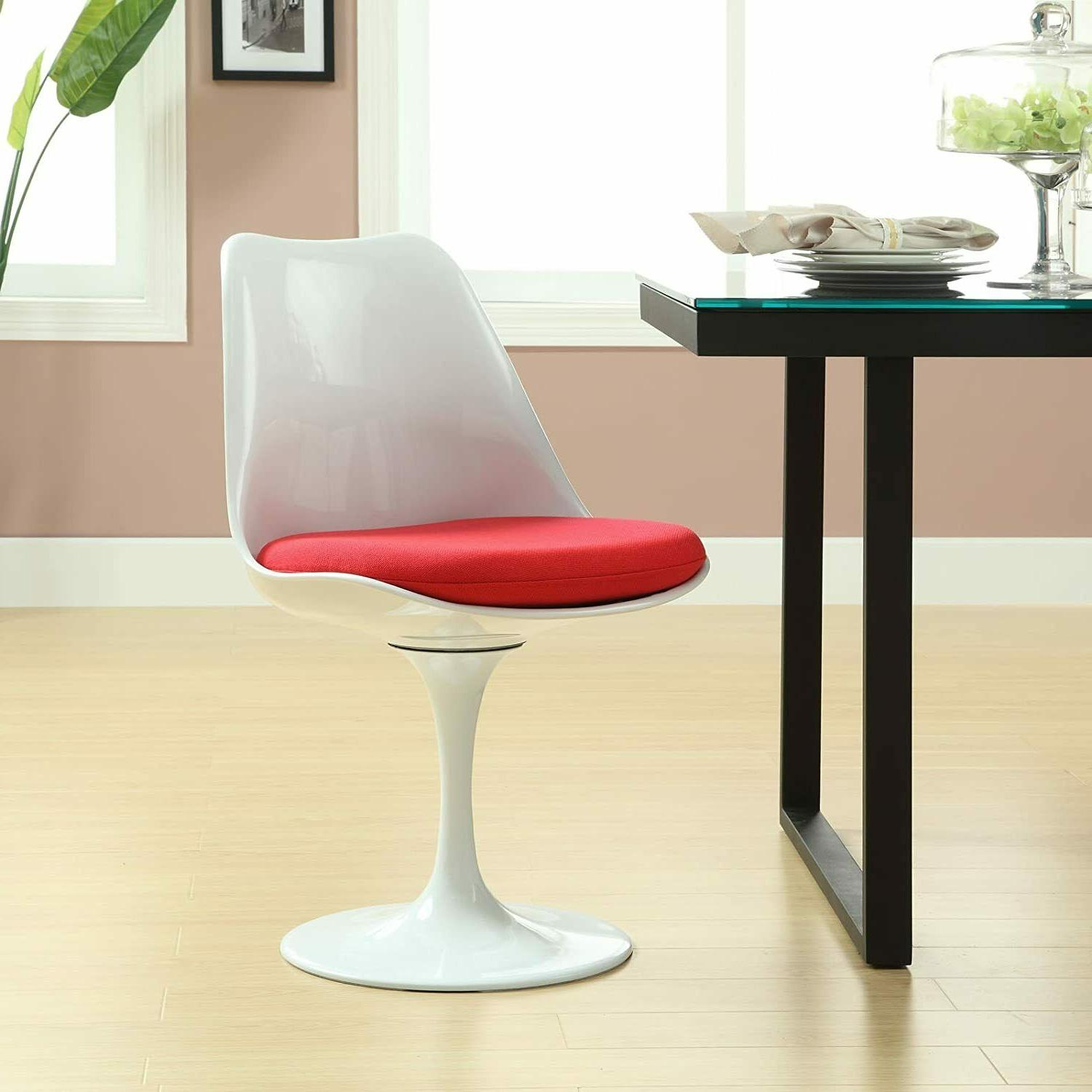 """31.5"""" Tulip Dining Table, Swivel Chairs Set Mid Style"""