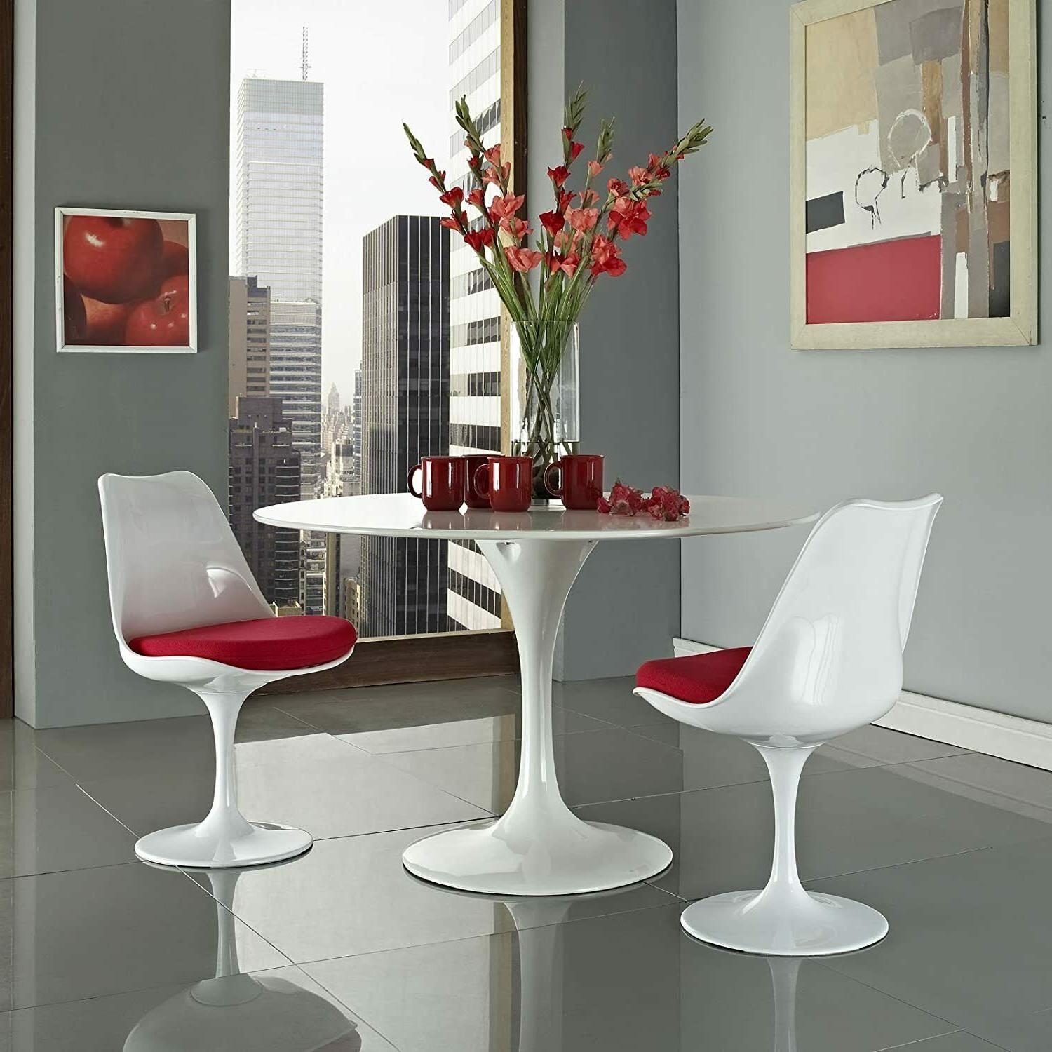 """31.5"""" Tulip Dining Swivel Chairs Mid Style"""