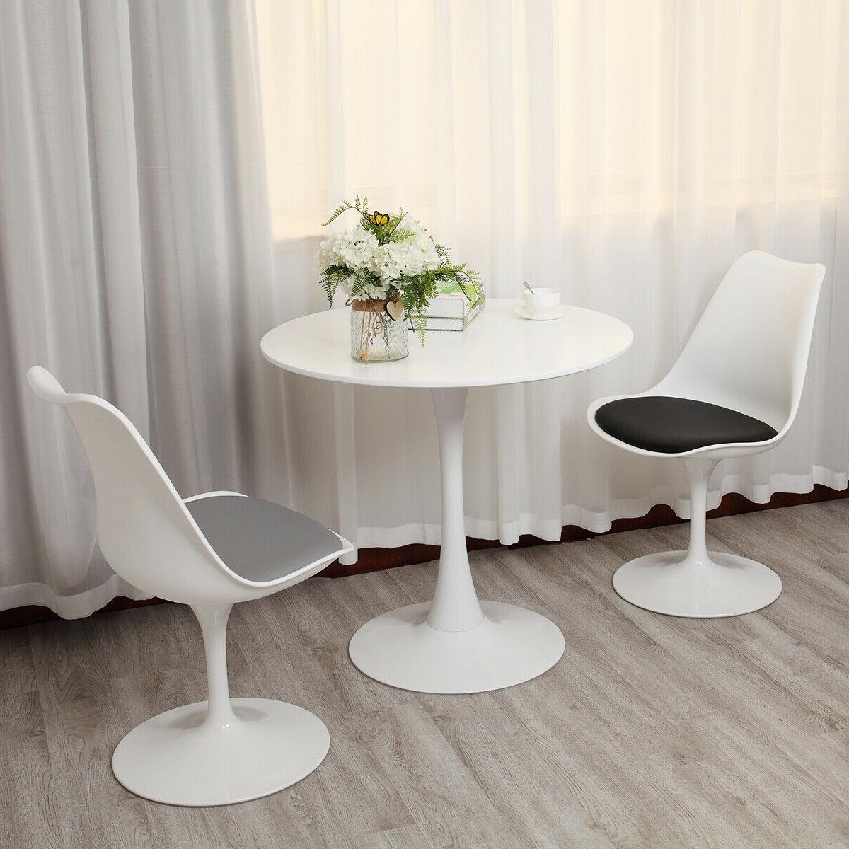 """31.5"""" White Tulip Side End Table Round Dining Table Mid Cent"""