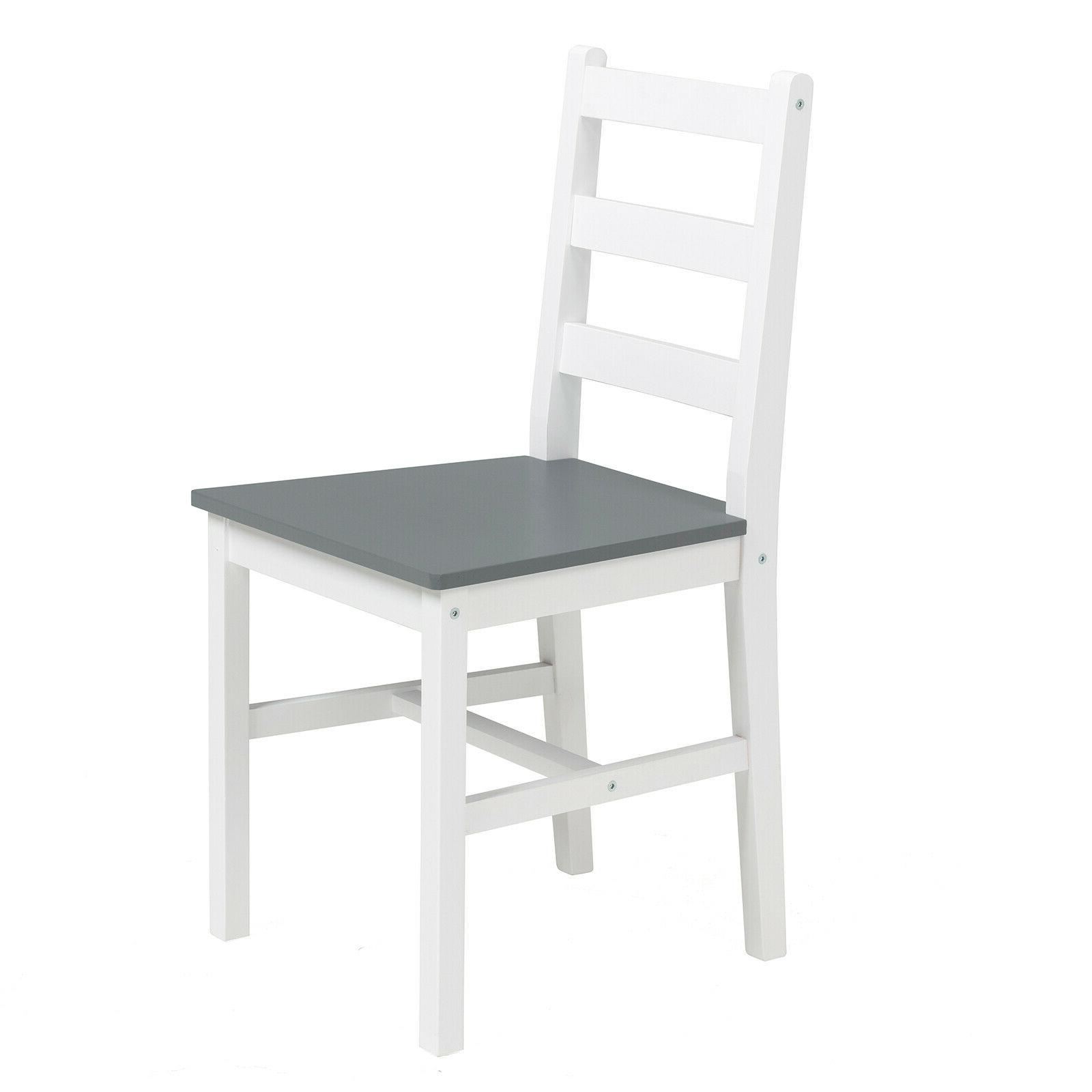 3PCS Table 2 Chairs Room Furniture Grey