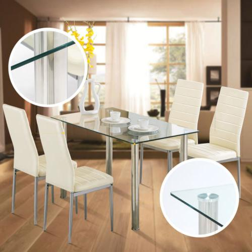 "48""x28""Glass Dining Legs Kitchen Breakfast Dining Room"