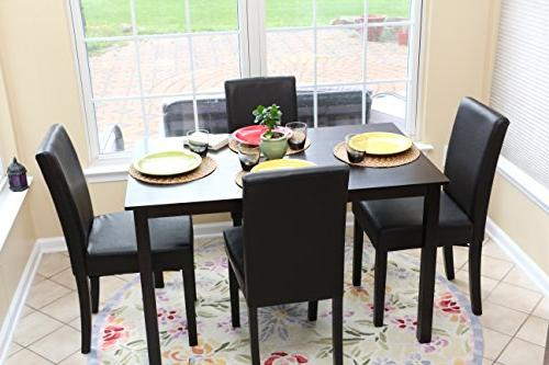 5 PC 4 Table Chairs Dining