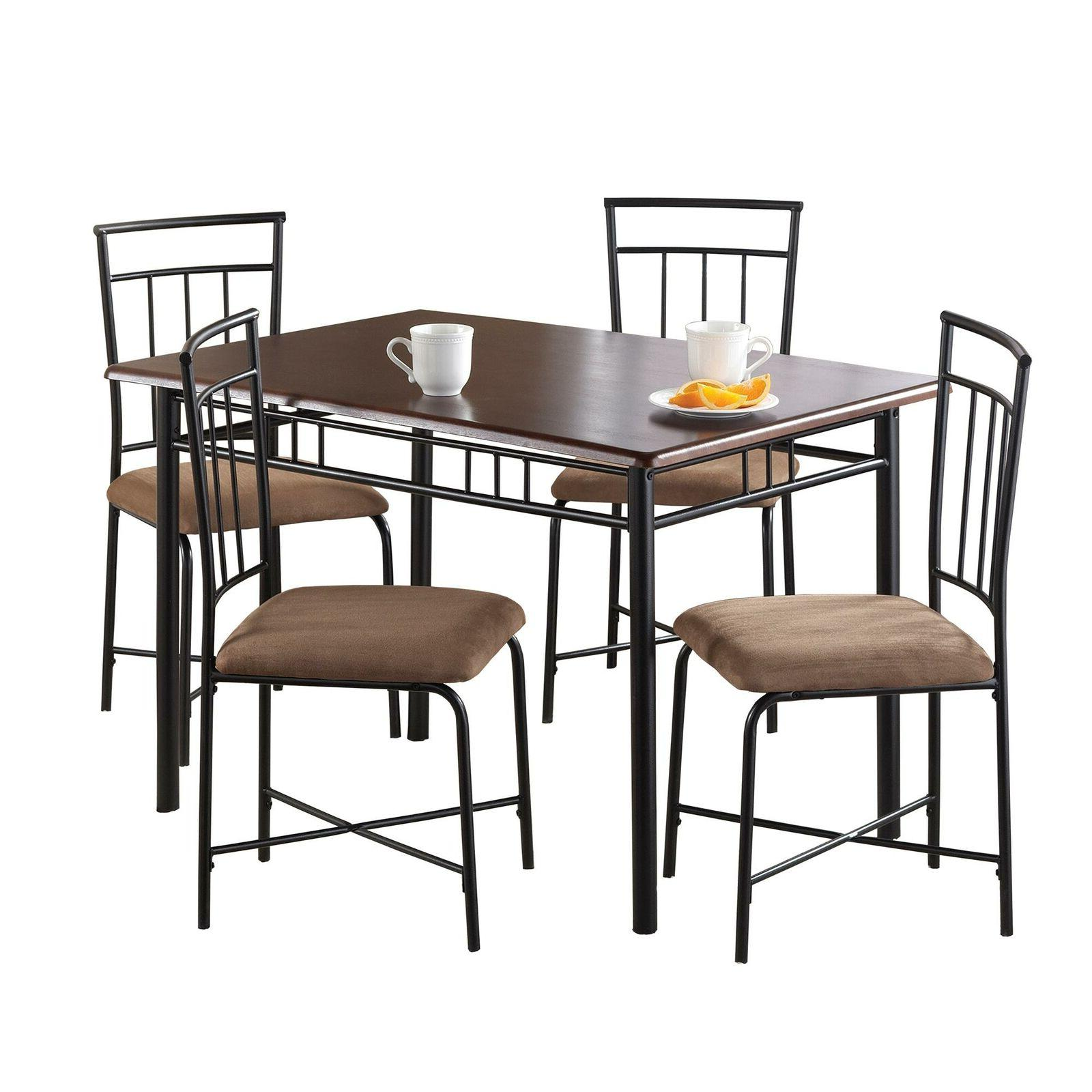 5 Dining Brown Steele with