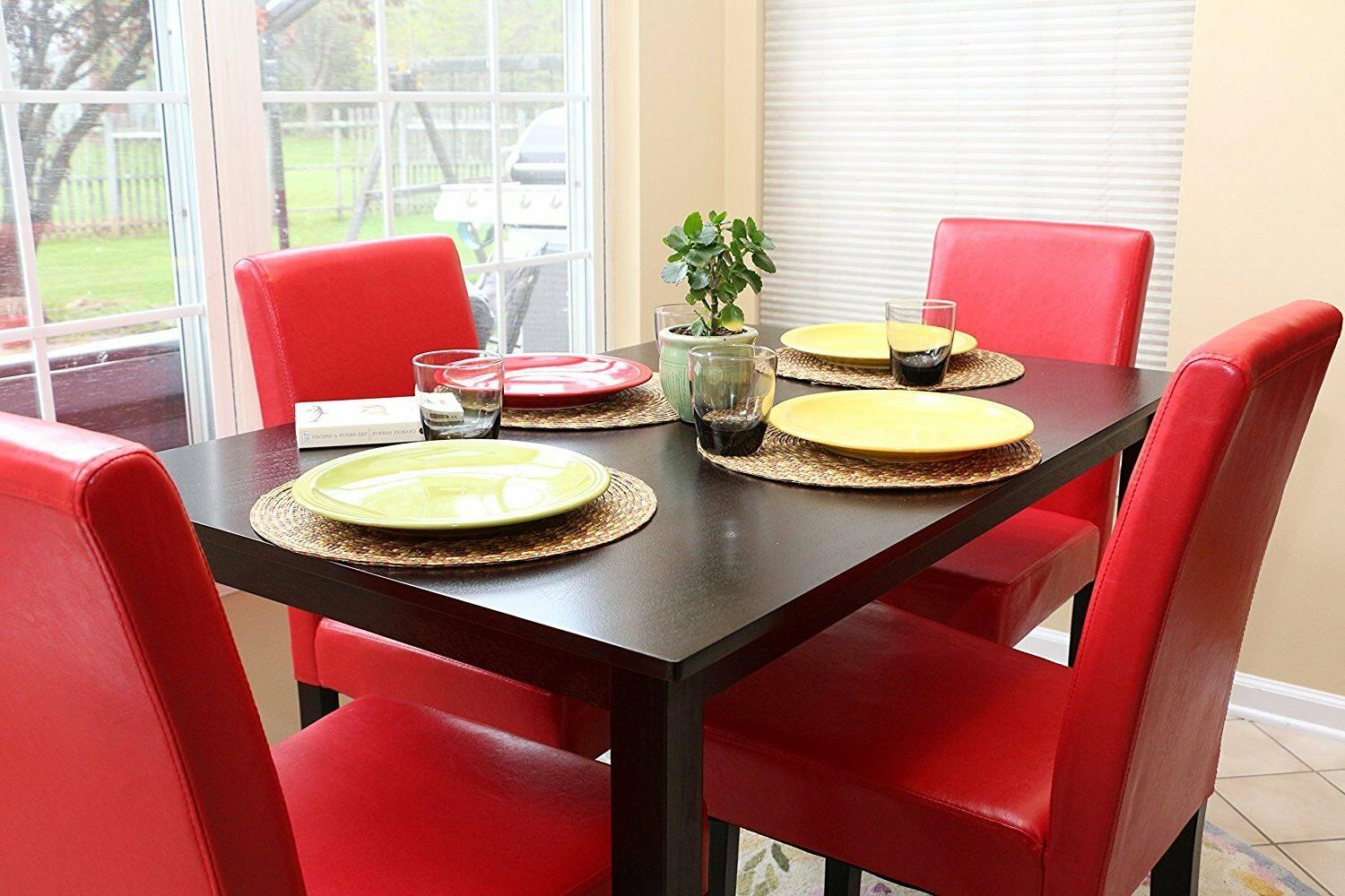 Home Life 5 Red Table Dining