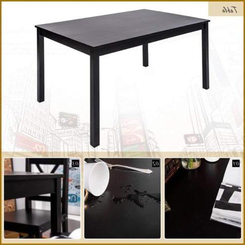 5 PC Dining 4 Table and Chairs Dining Furniture