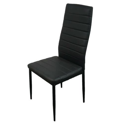5 Table Set 4 Leather Chairs Furniture