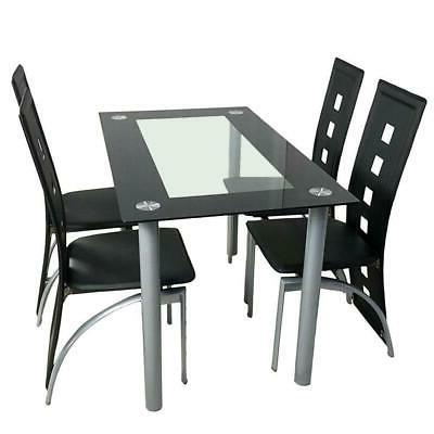 5 Piece Table Set Chairs Home