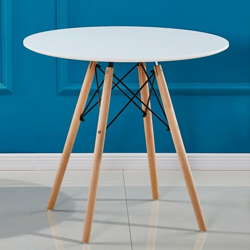 5 Piece Wooden Table Metal Furniture