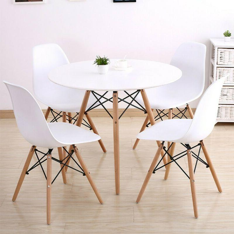 Modern White Vogue Dining Table Carpenter Round Coffee Table
