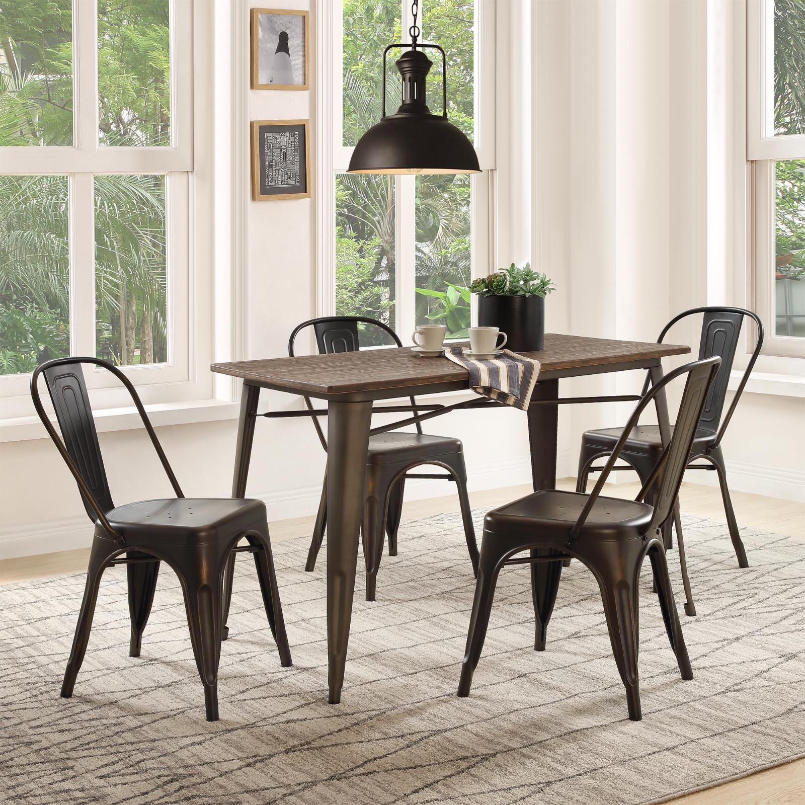 5 piece dining set table chairs set