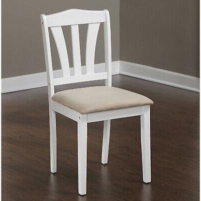 5 Dining Wood Breakfast Furniture Chairs Dinette