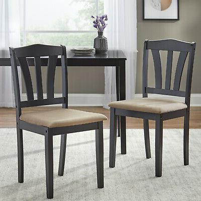 5 Piece Dining Wood Breakfast Furniture 4 Chairs and Dinette