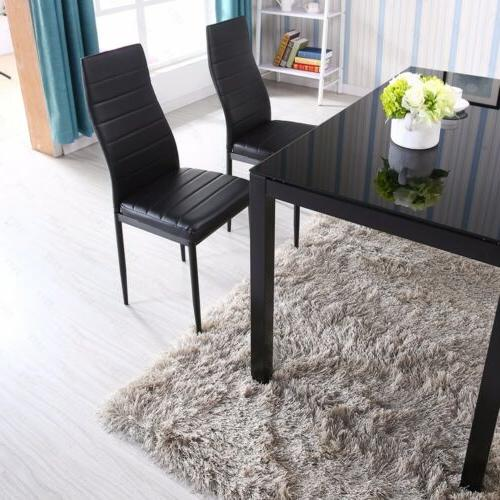 "48""x28""Glass Dining Table Legs Breakfast Room"