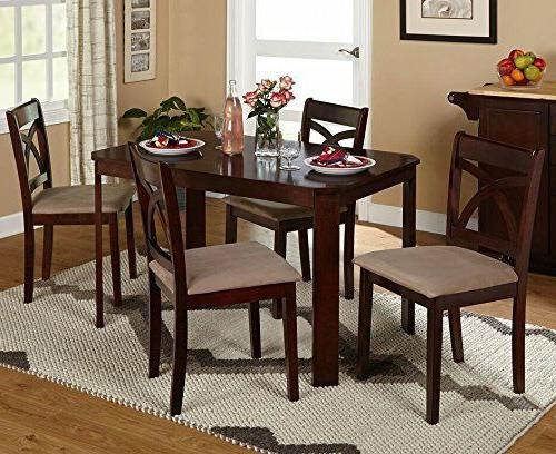 5 Piece Dining Table Set 4 Chairs Glass Metal Kitchen Room B