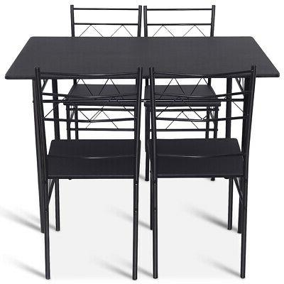 5 Piece Set Chairs Black