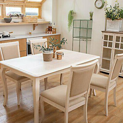 Deluxe 5 Piece Dining Table Set with 4 Chairs Rubber Wood Ki
