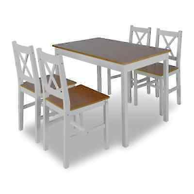 5 Piece Set and 4 Chairs Wood Kitchen Home Furniture
