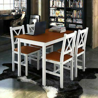 5 Piece Table Set 4 Wood Home Furniture