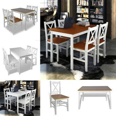 5 piece dining table set and 4