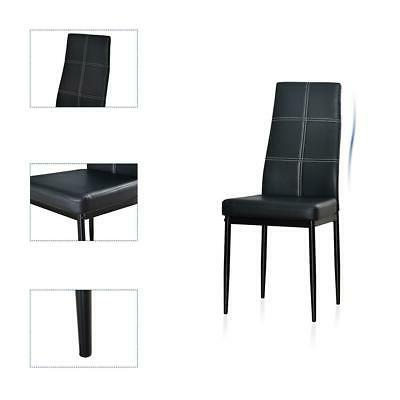 5 Dining Set Chair Glass Kitchen Room