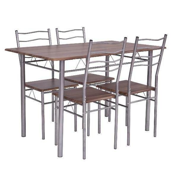 Costway Piece Dining Table Wood Chai