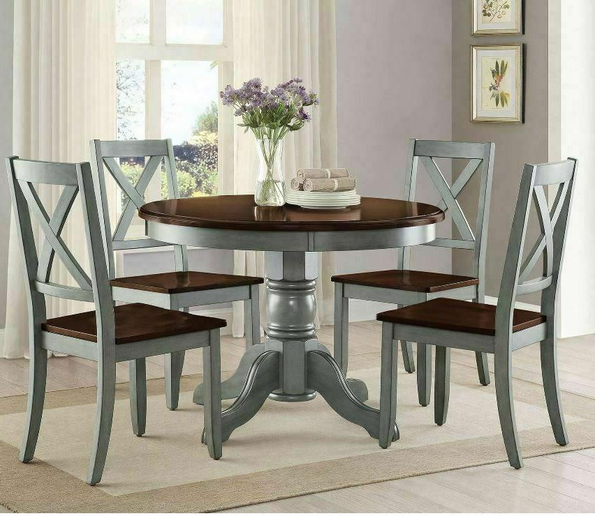 5 piece farmhouse dining table set