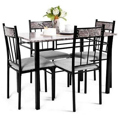5 Piece Dining 4 Chairs Furniture