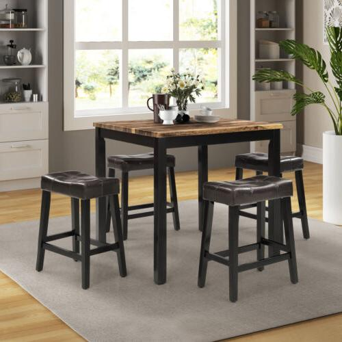 5pcs counter height dining bar sets home