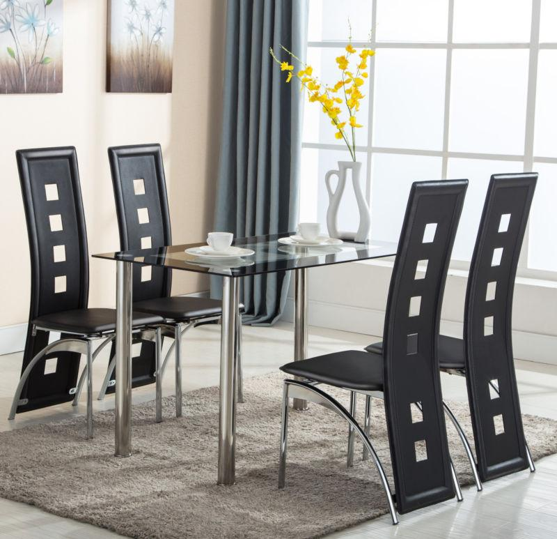 5 Piece Table Set 4 Chairs Room Furniture