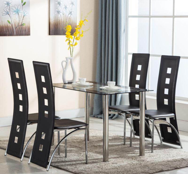 5 Table Chairs Kitchen Furniture