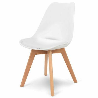 5 Set Table 4 Chairs Modern White New