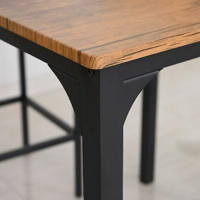 HOMCOM Modern Small Kitchen Table Chairs Dining