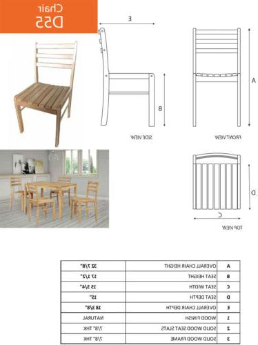 5 Rectangular Dinette Table & 4