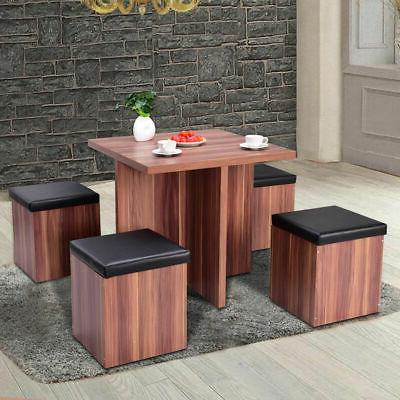 5 piece wood dining table set kitchen