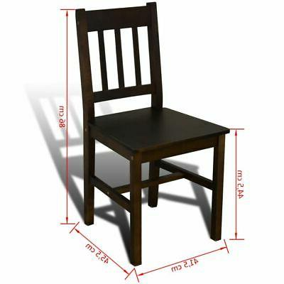 Wooden with 4 Chairs