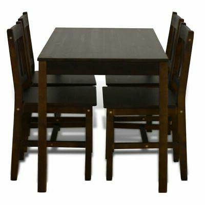 Wooden Dining 4 Chairs