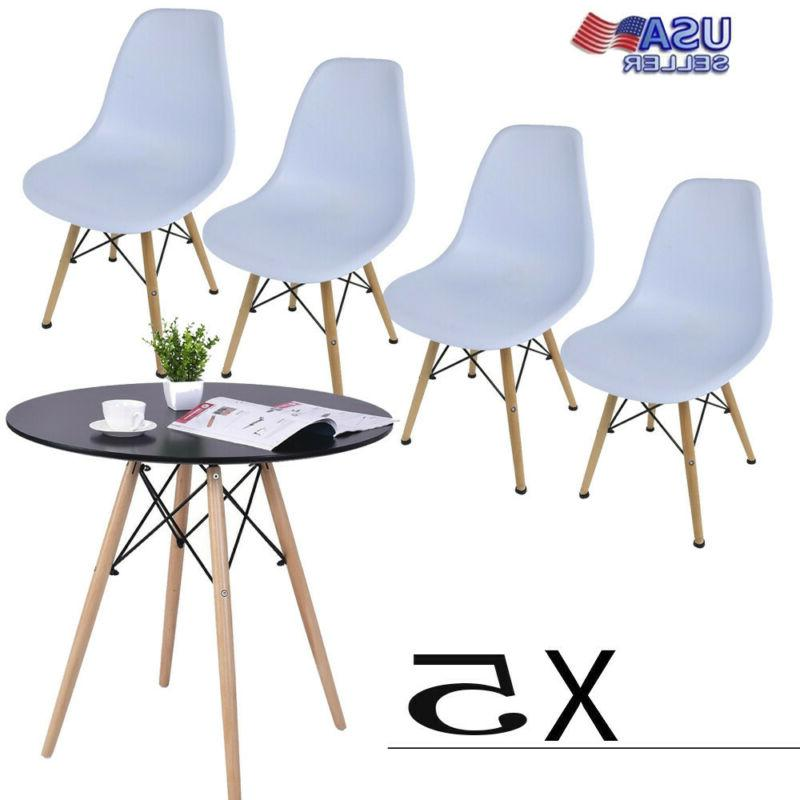 5 Table Set Chairs Metal Furniture