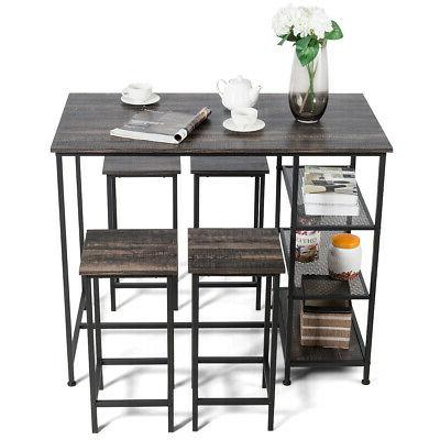 5 Counter Dining Table Bar Table w/4 Bar