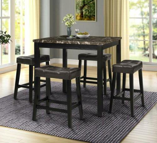 5pcs counter height dining sets home square