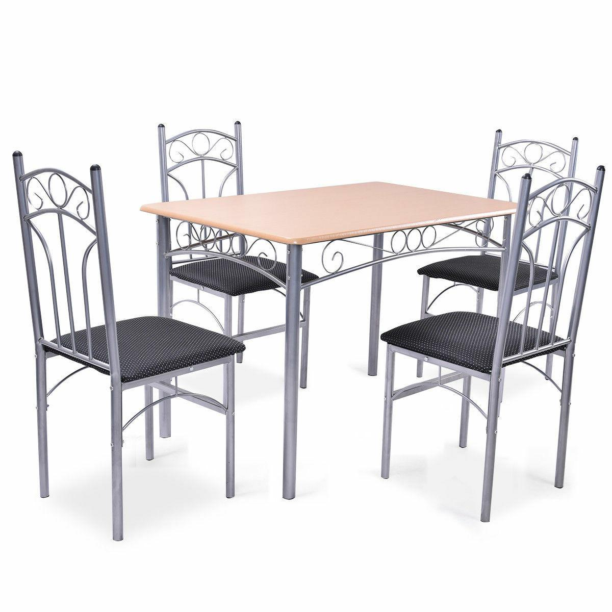 5pcs dining set table and 4 chairs