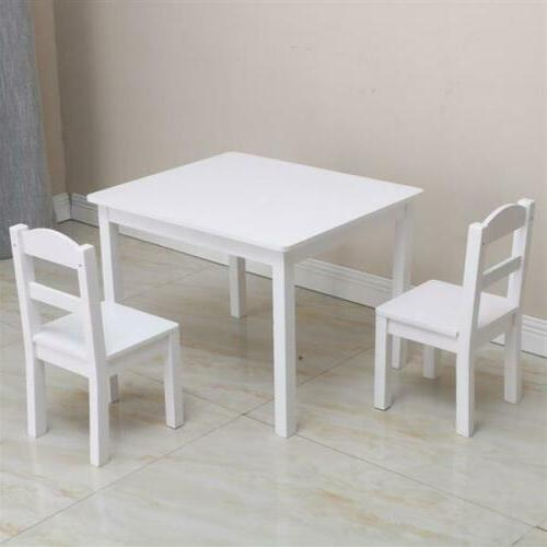 5PCS Dining White Table&Chairs Dining Room