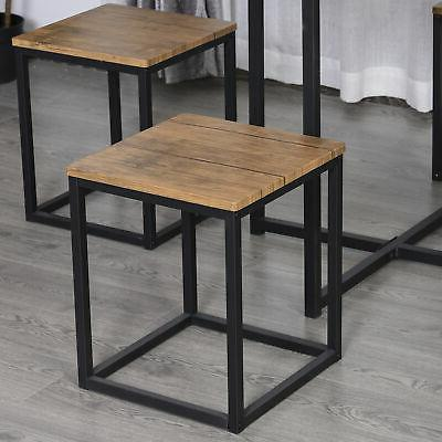 HOMCOM 5pcs Table Chair Board Space Stools