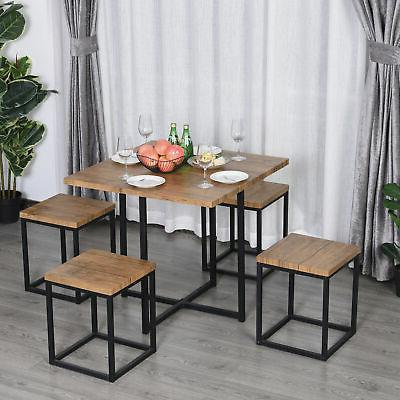 5pcs kitchen dining set wood bar table