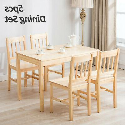 5pcs Wood 4 Dining